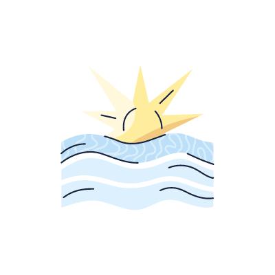 soleil avec du vent